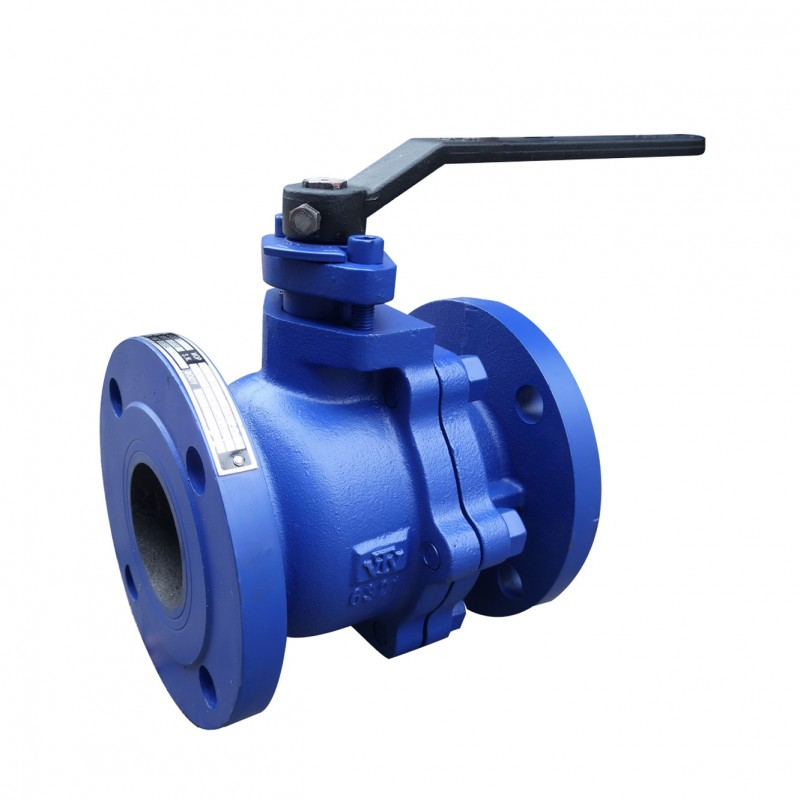 VTV 2pcs Body Ball Valve, Cast Iron, JIS 10K, 3""