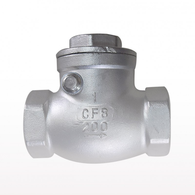 VTV Swing Check Valve, SS304, Screw End to BSP Class 200, 1""