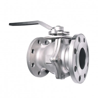 VTV 2pcs body ball valve, SS304, JIS 10K, 1""