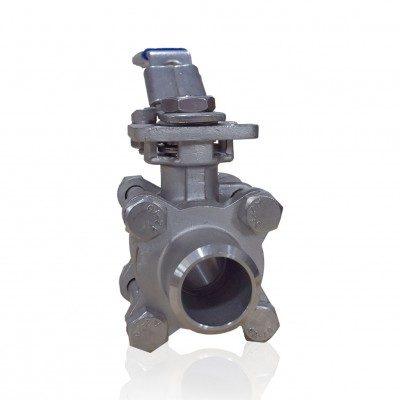 VTV 3 PC Body Ball Valve, SS316,Butt weld end to 1000 WOG, 1.5""