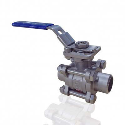 VTV 3 PC Body Ball Valve, SS316, Socket weld end to 1000 WOG 1.5""