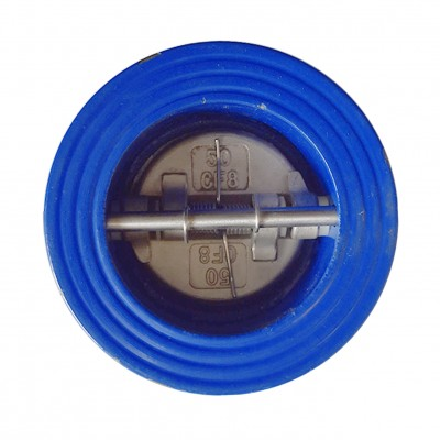 VTV Double Door Check Valve, Cast Iron, Viton Seat, JIS 10K, 2,5""