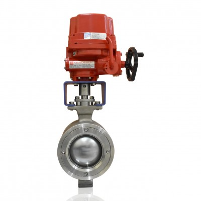 VTV Segement Ball Valve, SS304, Complete With Bracket & Adaptor, 2""