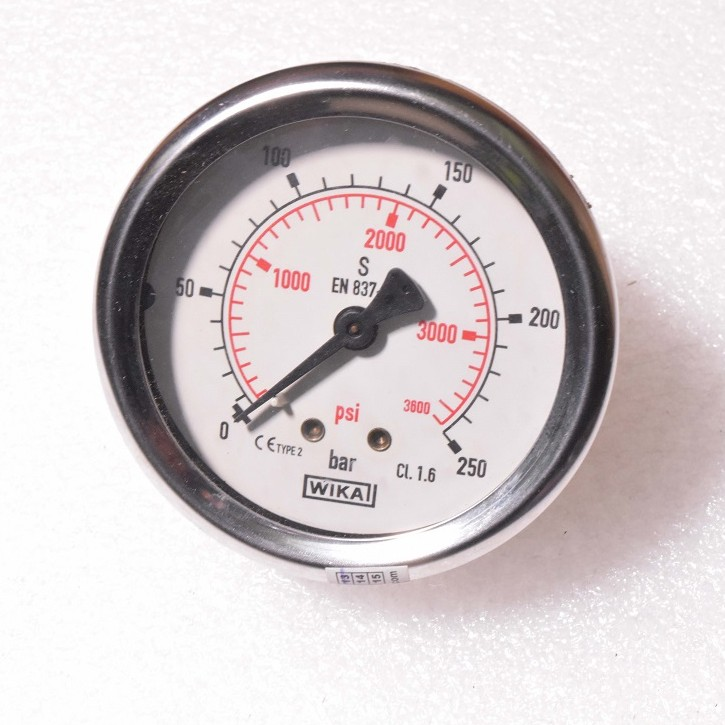 "WIKA Pressure Gauge 2-1/2"" (0 to 250 Bar (psi) Dual Scale) BSP Back"