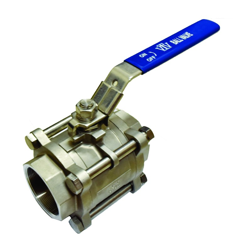 VTV 3pcs Body Ball Valve SS316 Screw End To 1000 WOG 0.5inch