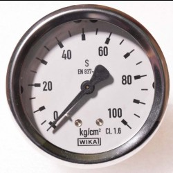 "WIKA Pressure Gauge 2-1/2"" (0 to 100kg) BSP Back"