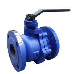VTV 2pcs Body Ball Valve, Cast Iron, JIS 10K, 1""