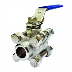 VTV 3pcs Body Ball Valve SS316 Butt Weld To 1000 WOG 1inch
